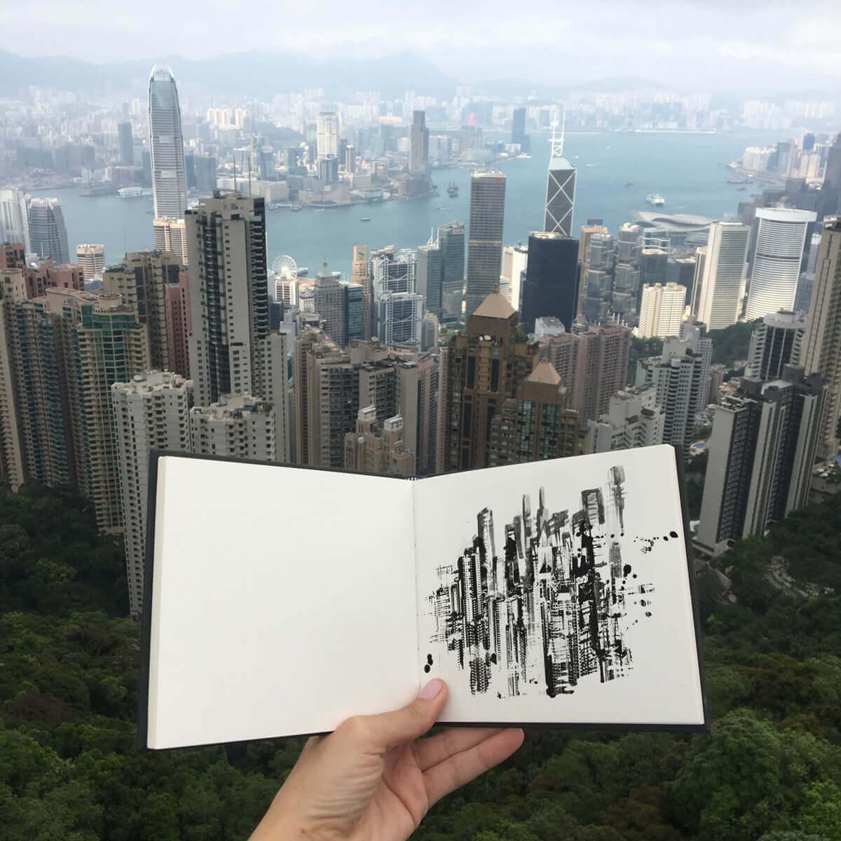 Caroline Tomlinson Hong Kong sketchbook