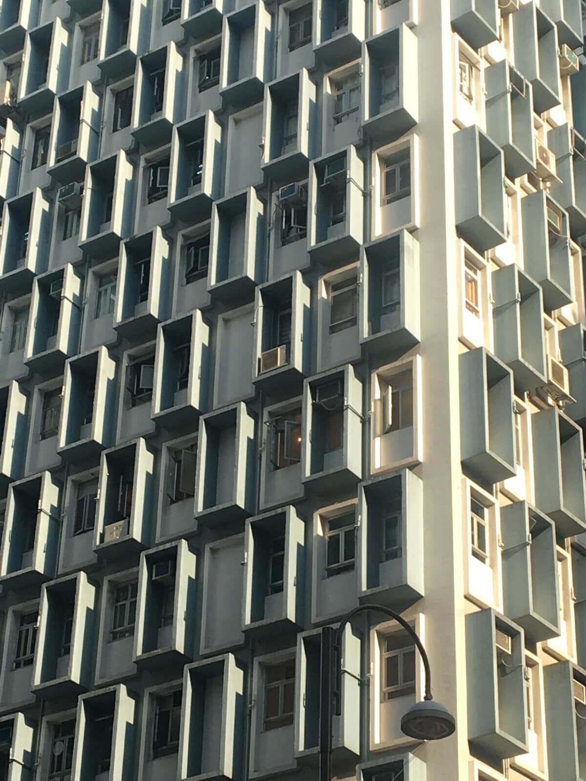 Caroline Tomlinson Hong Kong skyscraper detail