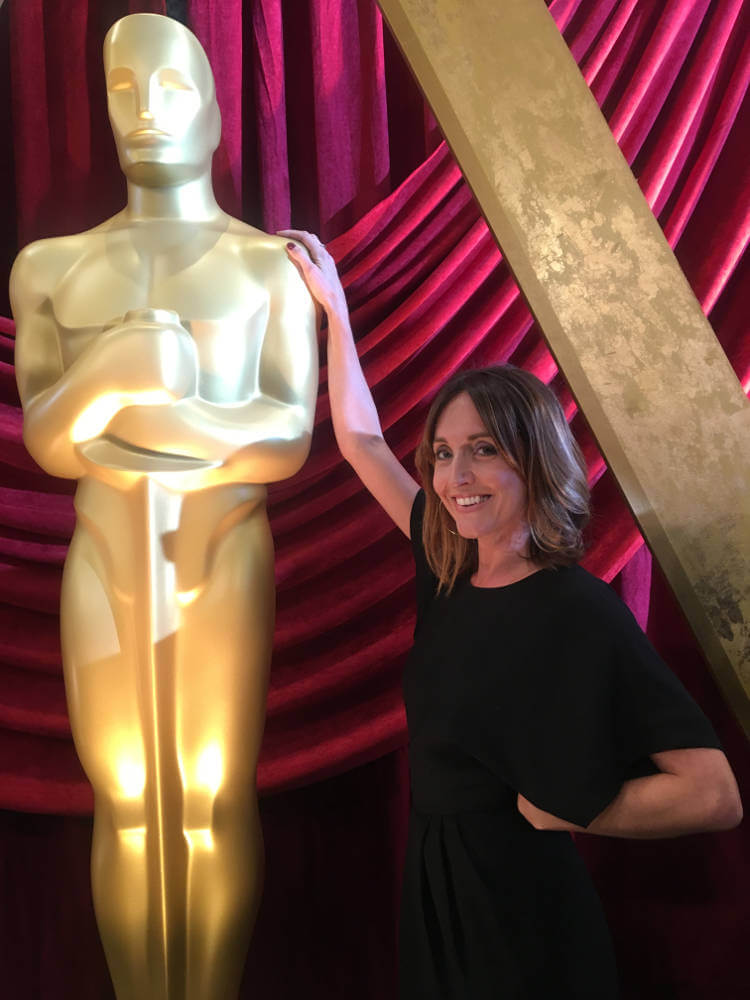 Caroline Tomlinson at the Oscars